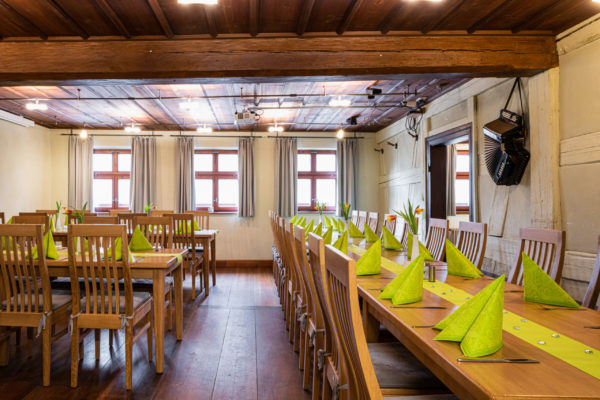 Bietet Platz für 40 Gäste